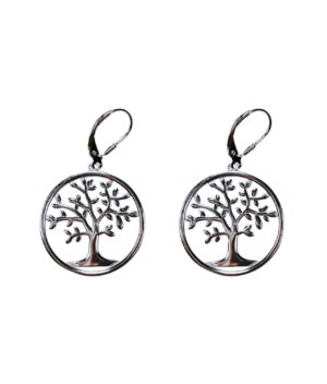 kolczyki srebro próba 925 drzewko szczęścia wiszące zapięcie angielskie
