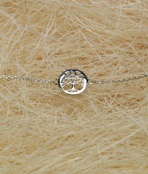 bransoletka srebro próba 925 drzewko szczęścia gładkie na łańcuszku