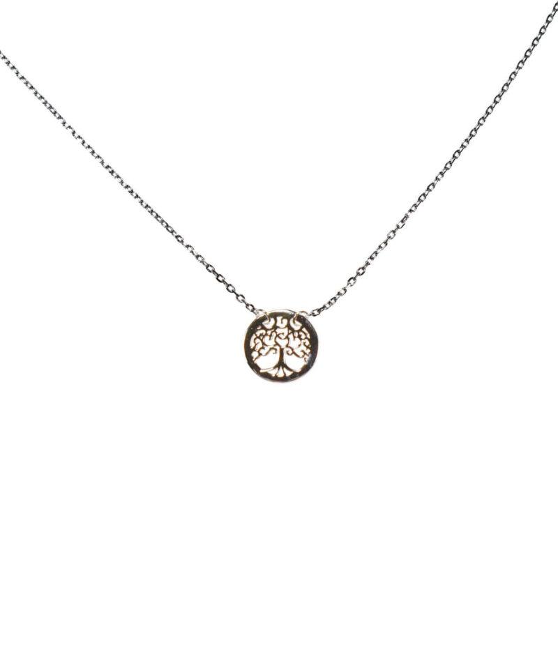 naszyjnik srebro próba 925 drzewko szczęścia ażurowe gładkie