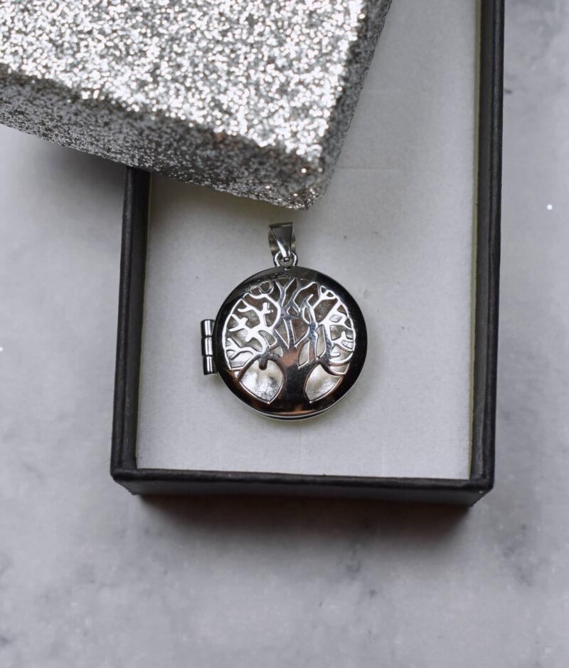 wisiorek srebrny próba 925 puzderko drzewko gładkie