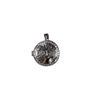 wisiorek srebrny próba 925 puzderko drzewko z cyrkoniami