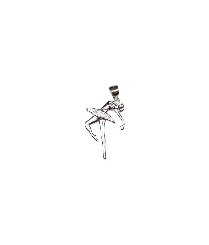 wisiorek srebrny próba 925 tancerka z cyrkoniami