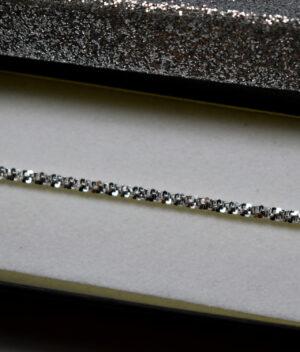 bransoletka srebrna próba 925 Daisy mieniąca łańcuszkowa