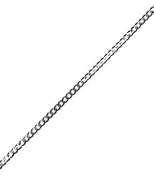 łańcuszek srebrny męski próba 925 cienka pancerka szerokość 2,8mm długość 60mm