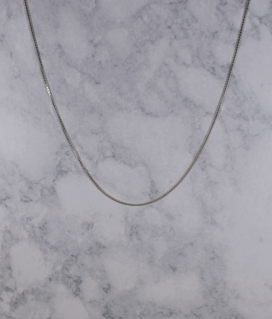 łańcuszek srebrny próba 925 kostka grubość 1,3mm długość 45 cm