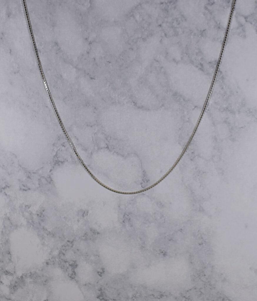 łańcuszek srebrny próba 925 kostka grubość 1,3mm długość 50cm