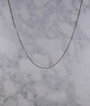 łańcuszek srebrny próba 925 kostka grubość 1,3mm długość 55cm