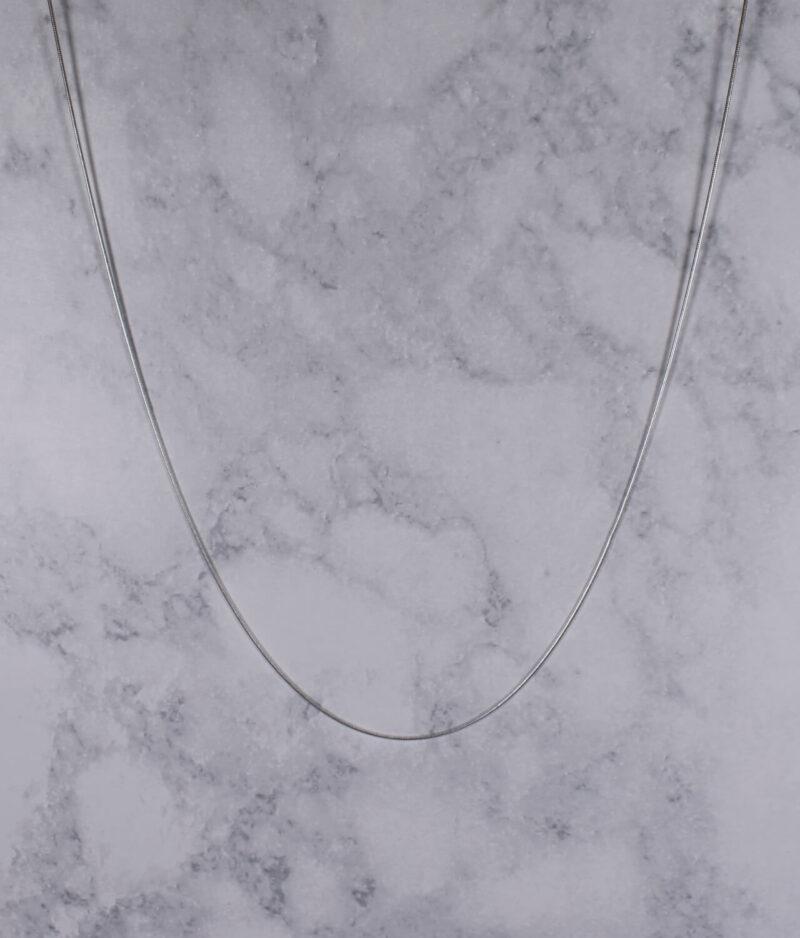 łańcuszek srebrny próba 925 linka żmijka cienki 50cm