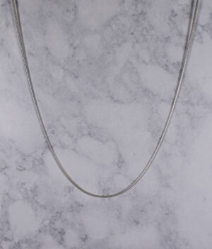 łańcuszek srebrny próba 925 linka żmijka gruby 60cm