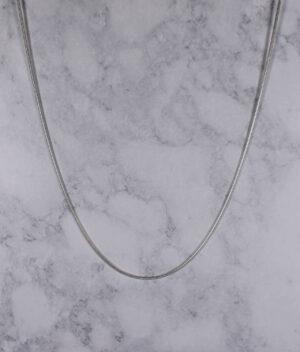 łańcuszek srebrny próba 925 linka żmijka gruby 70cm