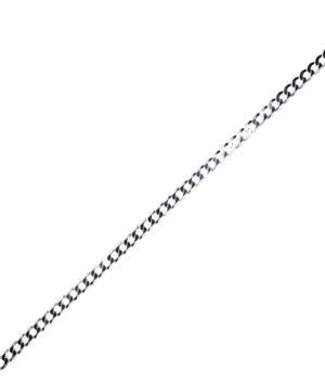 uszek męski srebrny próba 925 pancerka szerokość 5,2mm długość 50cm