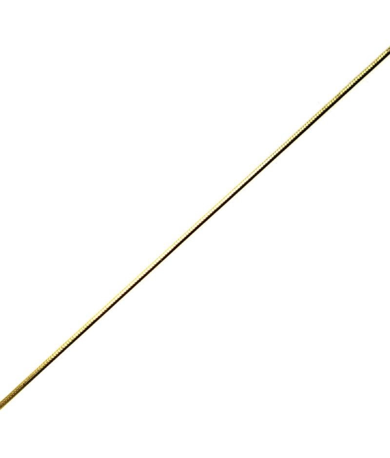 łańcuszek srebrny próba 925 pozłacany długość 45cm grubość 0,8mm
