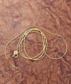 łańcuszek srebrny próba 925 pozłacany długość 50cm grubość 0,8mm
