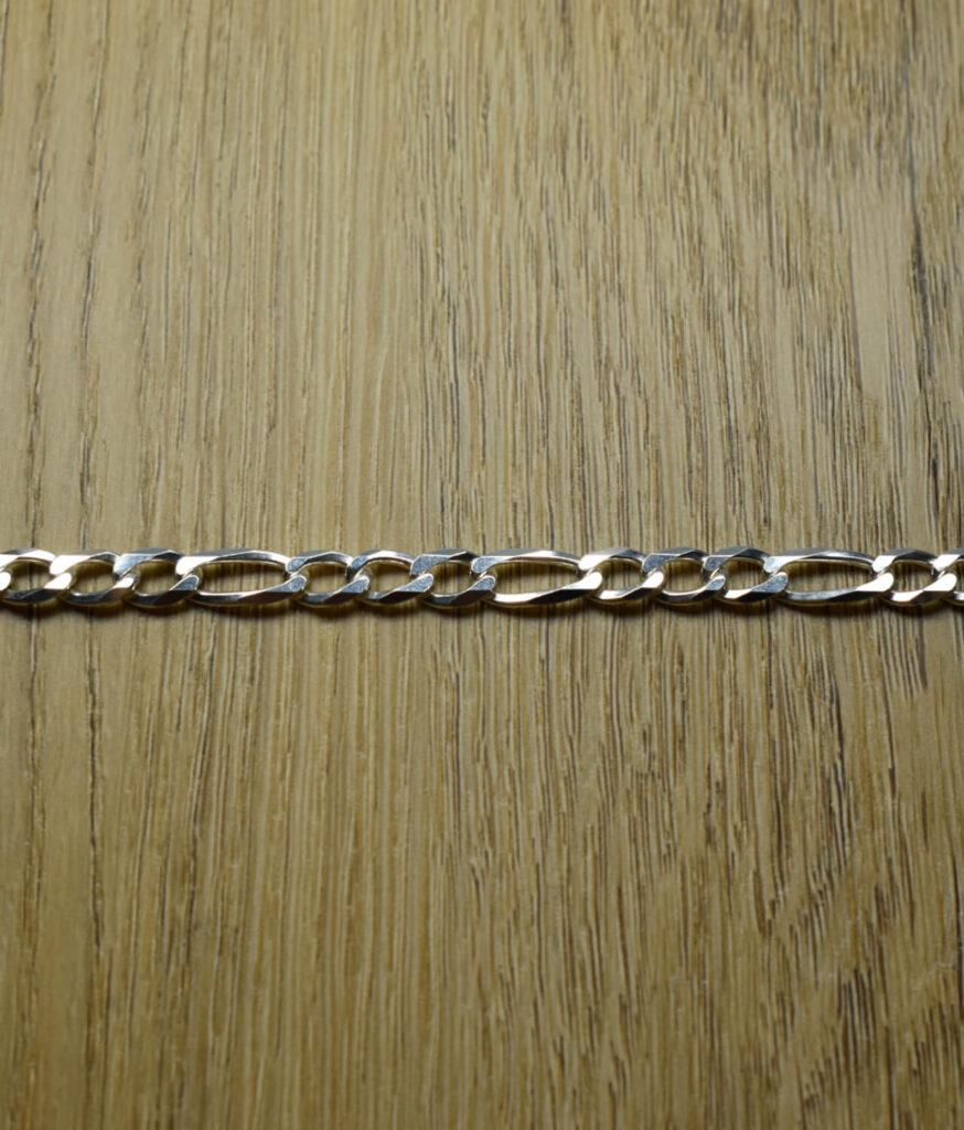 Łańcuszek męski srebrny próba 925 typu figaro szerokość 5,8mm długość 55cm