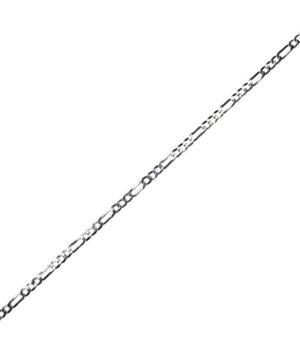łańcuszek srebrny męski próba 925 typu figaro wąski szerokość 4,2mm długość 55cm