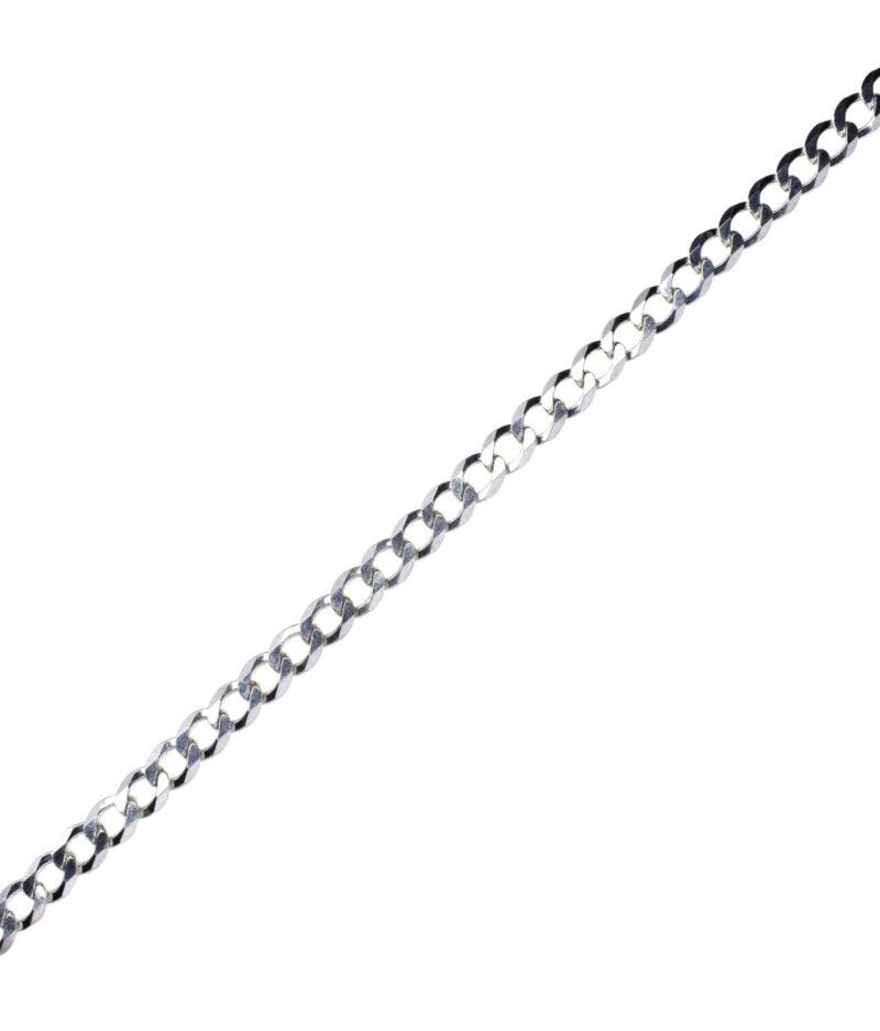 łańcuszek srebrny męski próba 925 typu pancerka szerokość 6,8mm długość 60cm