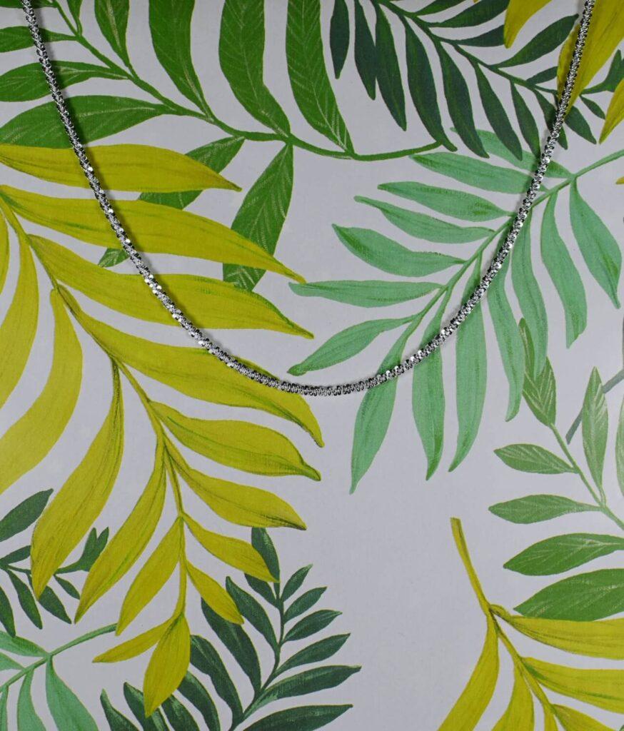 łańcuszek srebrny próba 925 Daisy 45cm mieniący