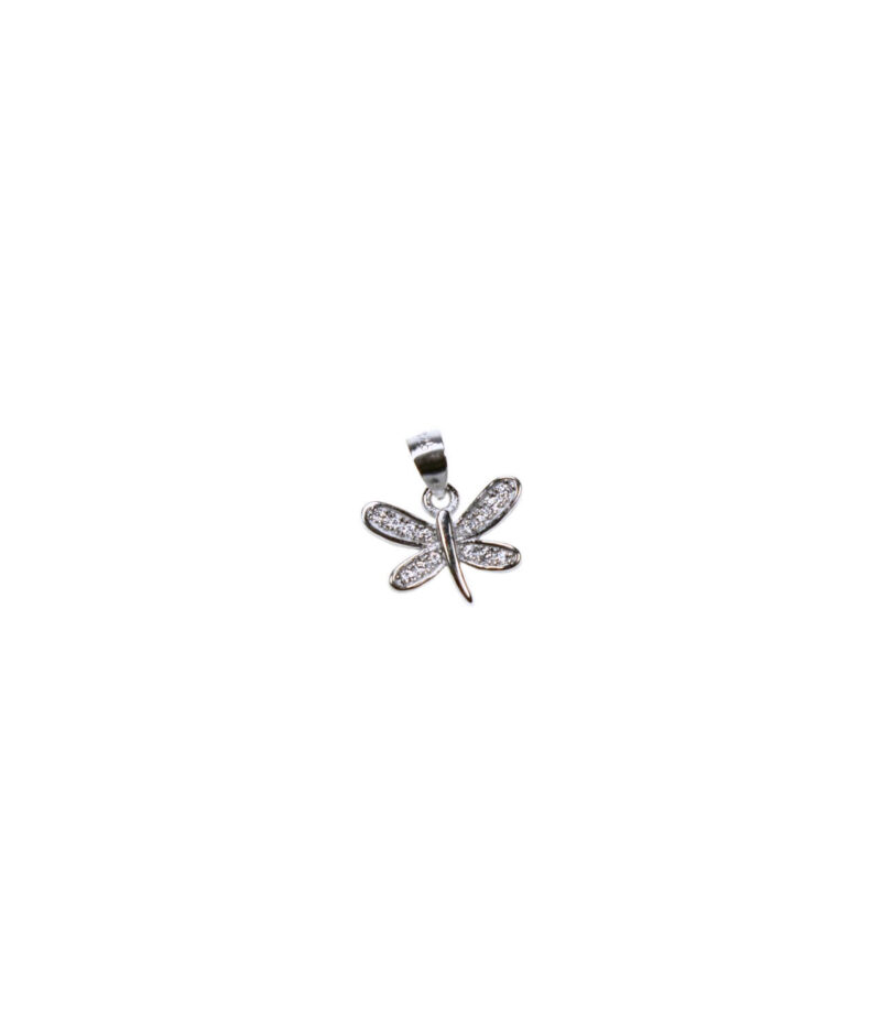 wisiorek srebrny próba 925 malutki motylek z cyrkoniami