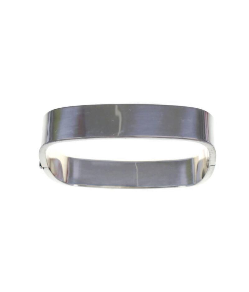 bransoletka srebrna próba 925 prostokątna sztywna bangle szerokość 11,6mm