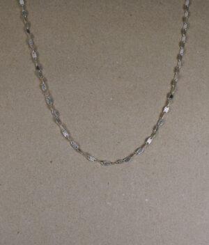 łańcuszek srebrny próba 925 ozdobny blaszka ponacinana skośnie długość 45cm