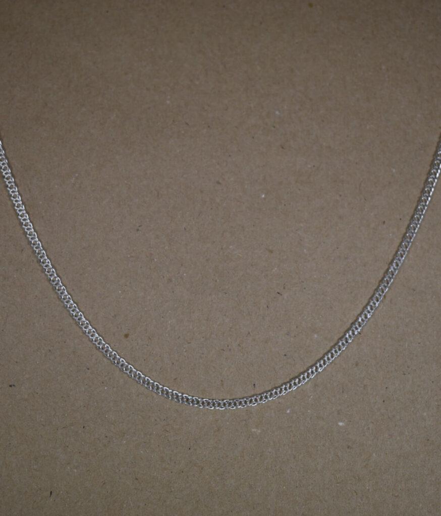 łańcuszek srebrny męski próba 925 pancerka podwójna 55cm szerokość 2,4mm