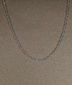 łańcuszek srebrny próba 925 Singapur długość 45cm grubość 2,6mm