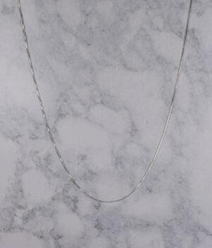 łańcuszek srebrny próba 925 cienka kostka 50cm grubość 1,1mm