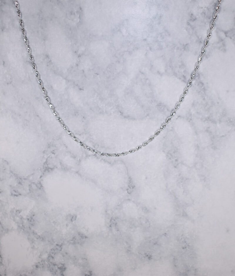 łańcuszek srebrny próba 925 cienki Singapur 70cm grubość 2mm