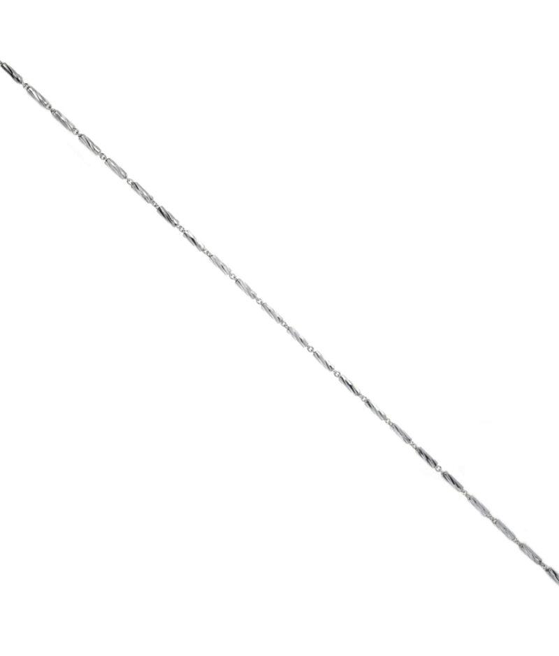 łańcuszek srebrny próba 925 diamentowane wałeczki długość 42 cm grubość 1,4mm