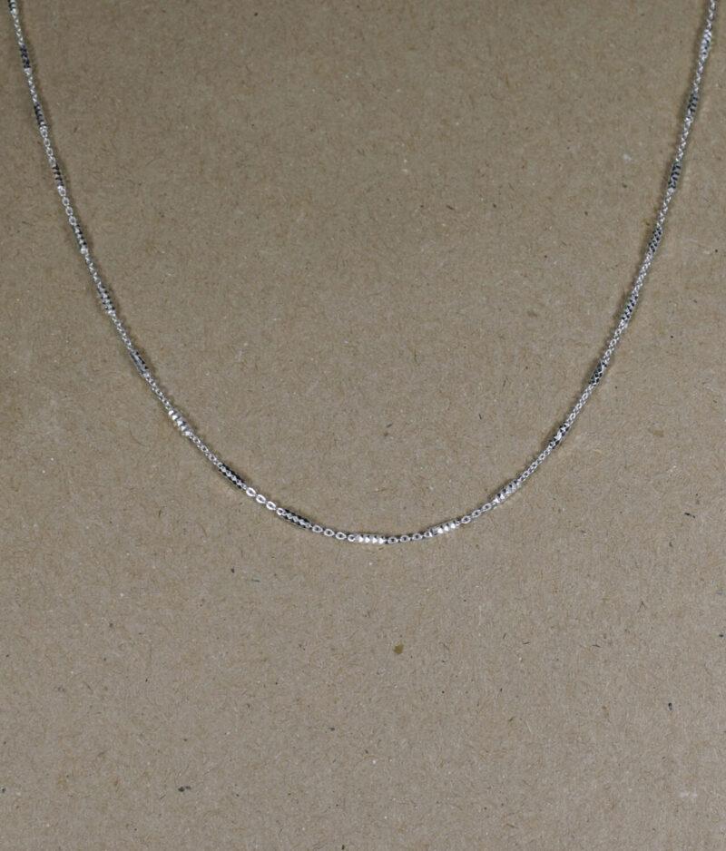 łańcuszek srebrny próba 925 ozdobny pałeczki długość 45cm ponacinane ankier